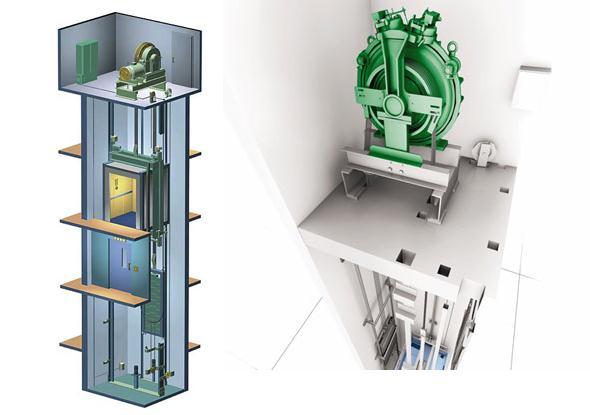 Kết quả hình ảnh cho thang máy có phòng máy